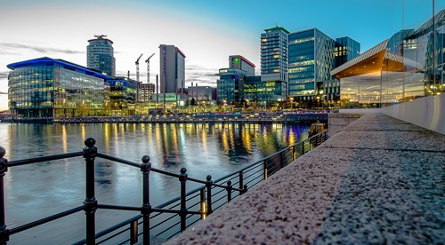 Salford Quays during the day